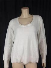 FAMOUS CATALOG ANGORA SCOOP NECK SWING PULLOVER SWEATER IVORY SIZE S, M