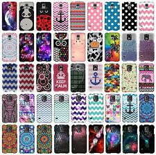 For Samsung Galaxy S5 G900 Snap On Protector Rubberized Hard Cover Phone Case