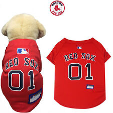 MLB Pet Fan Gear BOSTON RED SOX Jersey Shirt Tank for Dog Dogs Puppy Puppies