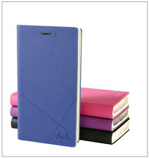 High Quality PU Leather Case Flip Cover + Screen Protector for Huawei Phone