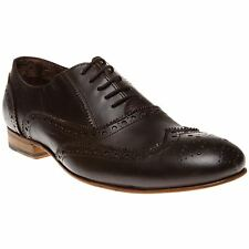 New Mens SOLE Brown Clinton Leather Shoes Brogue Lace Up