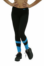 black long tights cotton spandex NWT womens clothing workout fitness aerobic 372