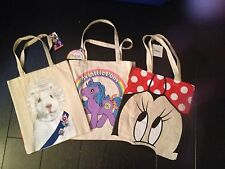 Primark Cotton Cloth Tote Shopping Bag My little Pony / Minnie Mouse /Pets Rock