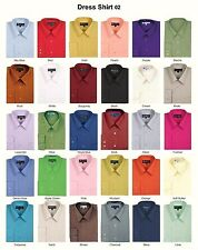 New Men's Basic Solid Color Traditional Dress Shirt Style DS02