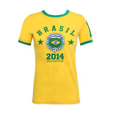 LADIES WORLD CUP 2014 T SHIRT WOMENS PRINTED TOP NATIONAL FOOTBALL SOCCER