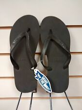 VANS - OFF THE WALL - KEEL BLACK FLIP FLOPS - OVER 30% OFF RRP + FREEPOST