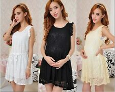 2014 new fashion summer lace 0-neck sleeveless dress for pregnant women dress