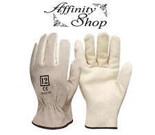 12 Pairs Swaggy Rigger Gloves Cow Leather Split Riggers Work Glove Any Size NEW!