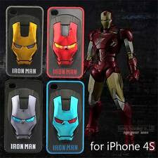 3D IronMan Iron man Superhero Hard Case Cover for Iphone 4 4s 5 5s Galaxy S4