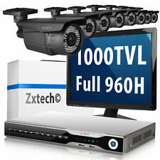 8 x 1000 TVL Compacted Camera Network DVR H.264 Cloud CCTV Audio Complete System