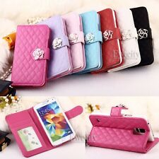 Fashion Luxury Deluxe Wallet Flip Stand Set PU Leather Skin Phone Case Cover