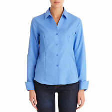 Jones New York Non-Iron Easy-Care Fitted Cotton Shirt
