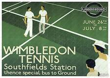 Wimbledon Tennis  : Old Travel Poster reproduction