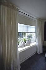White Silk Curtains, Dupioni Silk Drapes Made to measure in Pure White Color.