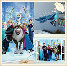DISNEY FROZEN  3D Removable Wall Stickers Vinyl Decal Mural Home Decor