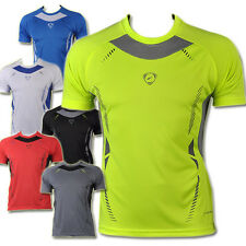 Mens Sport Quick Dry Stretch T-Shirts Top Tee Athletic Apparel 6 Colors LSL3225