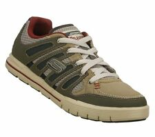 """New! Men's Skechers Relaxed Fit- """"Arcade II"""" Casual Sneaker in Olive/Cinza"""