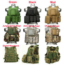 600D USMC Airsoft Tactical Military Molle Combat Assault Plate Carrier Vest New