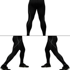 Men's Compression GYM Training Yoga Skin Base Layer Leggings Tight Black M-XXL