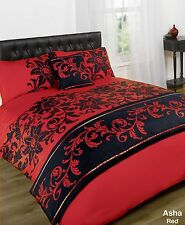 Asha Red Quilt Bed in a Bag set - Single Double King Size Super King Size
