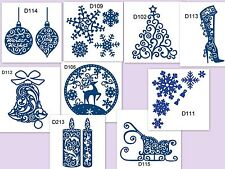 Tattered lace metal Die christmas festive range snowflakes tree candle bell etc