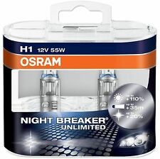 OSRAM NIGHT BREAKER UNLIMITED CAR BULBS H1 H3 H4 H7 HB3 HB4 & H11 FITTINGS.