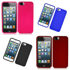 Solid Hard Protector Cover Snap on Fitted Case/Skin for Apple iPhone 5/5S