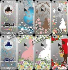 Disney Princess Clear Transparent TPU Soft PC Back Case For iPhone 5S 6 / 6 Plus