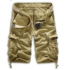 Men Casual Army Cargo Combat Camo Camouflage Overall Shorts Sports Pants NO BELT