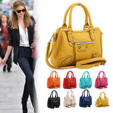 New Womens Synthetic Leather Cross Body Tote Handbag Hobo Shoulder Bag Satchel