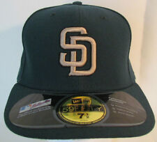 San Diego SD Padres Baseball New Era Green Fitted 6 7/8 Flat Bill Hat 1