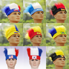 New National Fans Wig Hat 2014 Brazil World Cup FIFA Football Hairpieces NC13