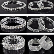 New Fashion Crystal Rhinestone Stretch Bracelet Bangle Wedding Bridal Wristband