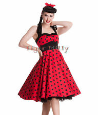 Robe rouge à pois noirs années 50 jive adelaide Hell Bunny