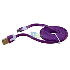 1/2/3 m Micro USB 2.0 Flat Data Sync Charger Cable for Galaxy S4 S3 NOTE Purple