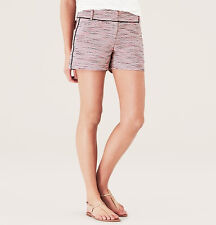 Ann Taylor LOFT Tweed Riviera Shorts with 4 Inch Inseam Size 14 Candy Coral