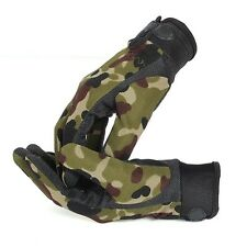 Camouflage Military Tactical Airsoft Shooting Hunting Camping Full Finger Gloves