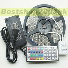 5M 5050 SMD Waterproof RGB 300 LEDs Flexible LED Strip 12V Christmas party Light