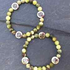 Connemara marble bracelets.Celtic spiral or shamrock.Irish made.stretch jewelry