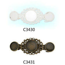 5Pcs 12MM 16MM Round Bezels Bobby Hair Pin Clip Barrette Blanks Hairpin Findings