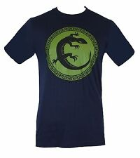 Ender's Game  Mens T-Shirt -  Salamander Army Circle Logo Image  Navy Blue