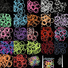 Hot Selling 600Pcs Colorful Rubber Bands 24 Clips 1 Hook For Rainbow Loom Refill