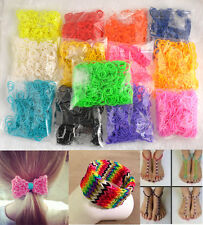 600PCS 13Colors Diy Fashion Charm Loom Refill Rubber Bands+24Clips Loom Tool New