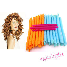 """60cm/24"""" Magic Hair Curlers Leverage Curlformers Spiral Ringle Roller With hooks"""
