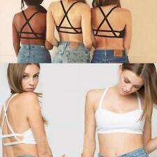 Wemen Cutout Bustier  Backless Banded Inner Bralette Straps Sexy Cropped  Vests