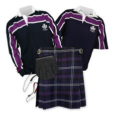Sports Kit Essential Kilt Package - Purple Stripe Rugby Top - Heritage Scotland