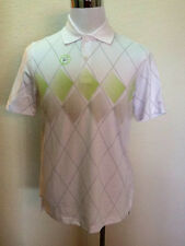 IZOD Mens'  Small, MED Cool FX   Performx   White Argyle Golf Polo Shirt $64.00