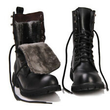 Hot Retro Combat boots Winter England-style fashionable Men's short Black shoes
