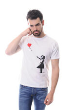 Banksy Girl With A Heart Shaped Balloon Men's White 100% Cotton T-Shirt S to XL