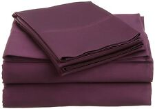 "Sale 800TC Soft Sheet Set Violet Solid 100%Cotton 12""-30"" Extra Deep Pocket"
